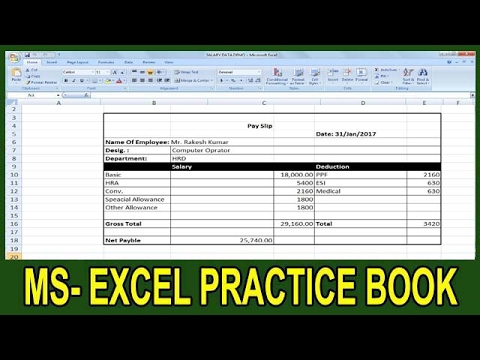 Ms Office Excel Book
