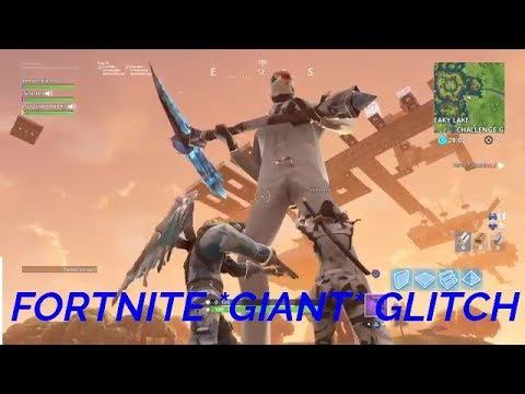 Fortnite *GIANT* Glitch -Epic Games King- (w/BAIntrosGaming) The Rise Of Ceeday 2.0