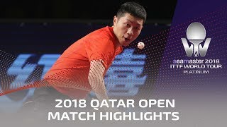 2018 Qatar Open Highlights I Xu Xin vs Zhou Yu (1/4)
