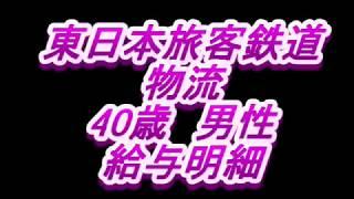 【給与明細】東日本旅客鉄道 物流 40歳男性
