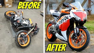 2009 CBR 1000RR WRECKED Bike Rebuild (Complete Rebuild Timelapse) Start to Finish