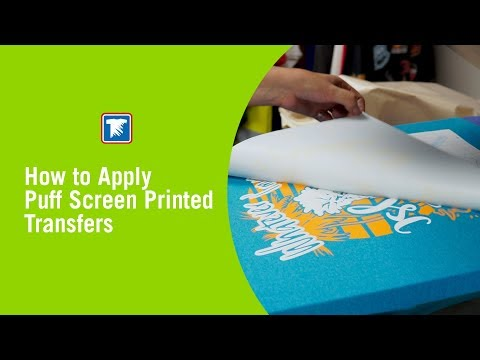 b4593e87 How to Apply Puff Screen Printed Transfers - YouTube