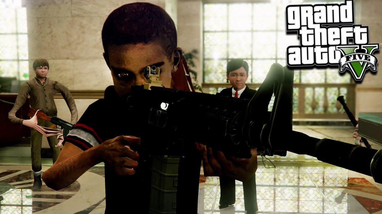 Download GTA 5 KIDS BECOMING BANK ROBBERS (GTA 5 Mods)