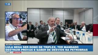 Boechat: quem esperava espetáculo no depoimento de Lula quebrou a cara