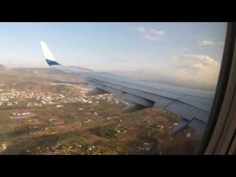 Ryan Air timelapse of flight ATHENS-Chania Crete-Boeing 737-800