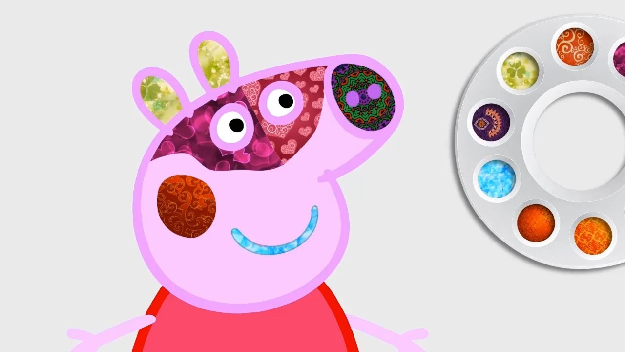 Peppa Pig Face Paint Face Painting Peppa Pig Coloring Pages For Girls Glitter Effect For Kids
