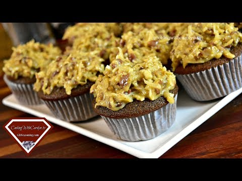 HOMEMADE GERMAN CHOCOLATE CUPCAKES |GERMAN'S CHOCOLATE CUPCAKES |Cooking With Carolyn
