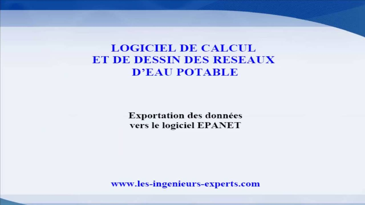 TÉLÉCHARGER EPANET 3.0 FRANÇAIS
