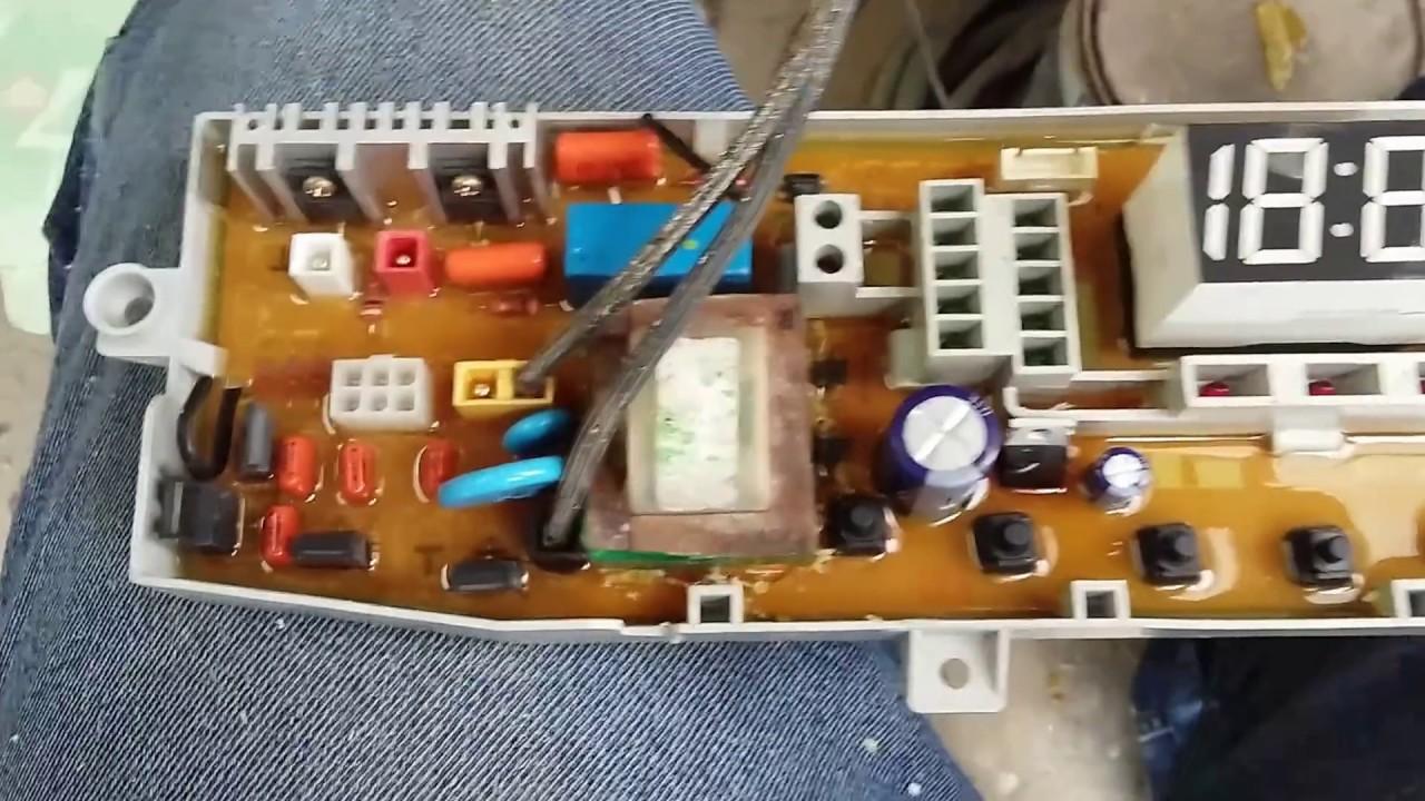 Repare Tarjeta De Lavadora Samsung Te Muestro Como Youtube