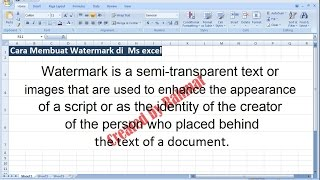 Microsoft excel training | how to add and insert a watermark in excel