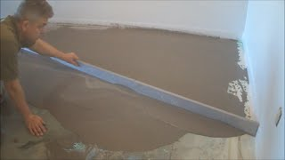How-to Leveling a Concrete Floor with Straight Edge Mryoucandoityourself