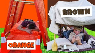 Using ONLY ONE Color to build Apocalypse Survival Shelters! *OVERNIGHT CHALLENGE*