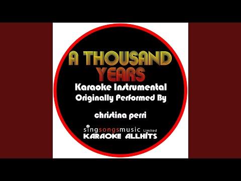 A Thousand Years (Originally Performed By Christina Perri) (Audio Karaoke Instrumental) Mp3