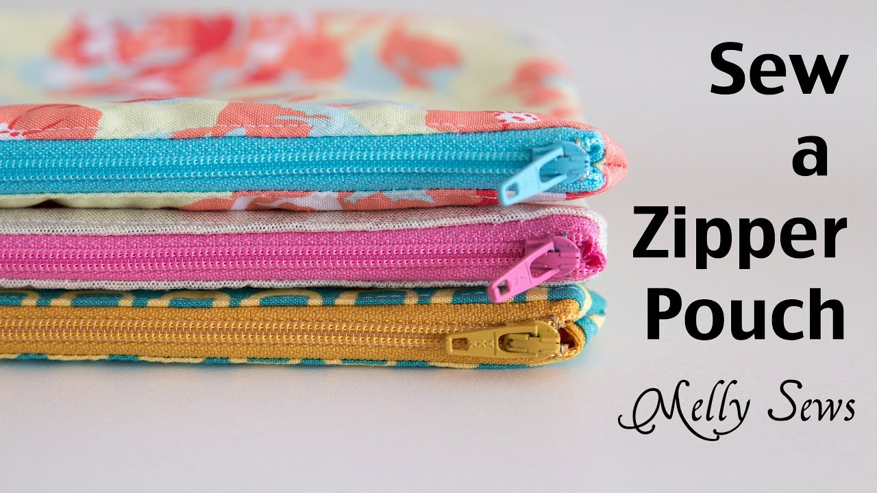 How To Sew A Zipper Pouch Easy Beginner Sewing Project