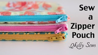 How to Sew a Zipper Pouch - Easy Beginner Sewing Project