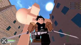 i will kill thm all (attack on titian gameplay ROBLOX)