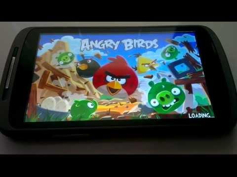 Angry Birds test op een Medion P4310