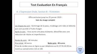 Tef / Tef Canada - Section B, Expression Orale : CONVERSATION - N°6