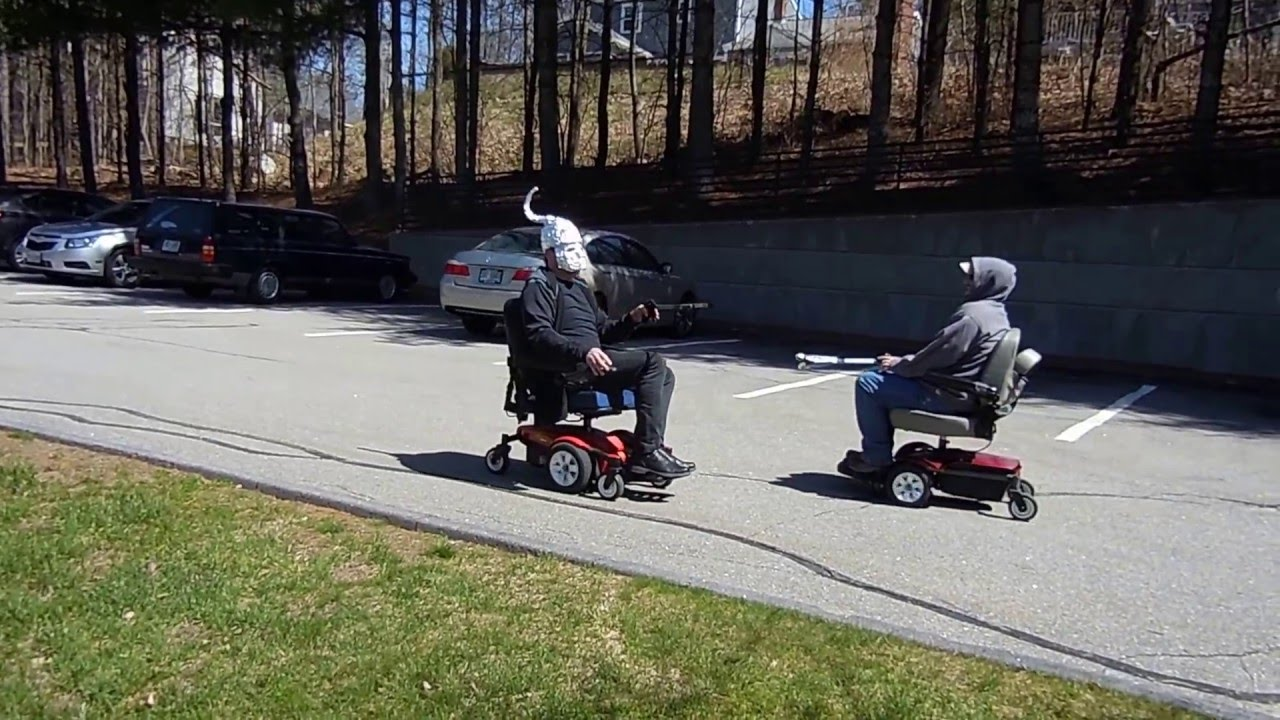 Electric bike adaption for wheel chair youtube - Electric Wheelchair Jousting