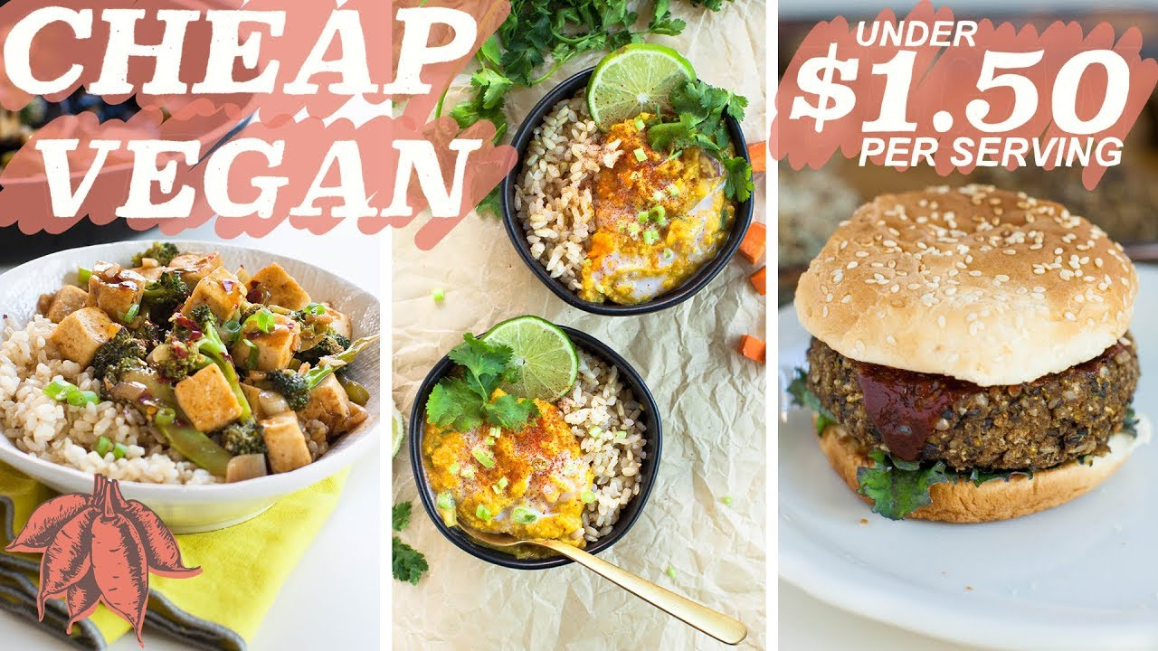 Amazing $1.50 MEALS | cheap vegan recipes