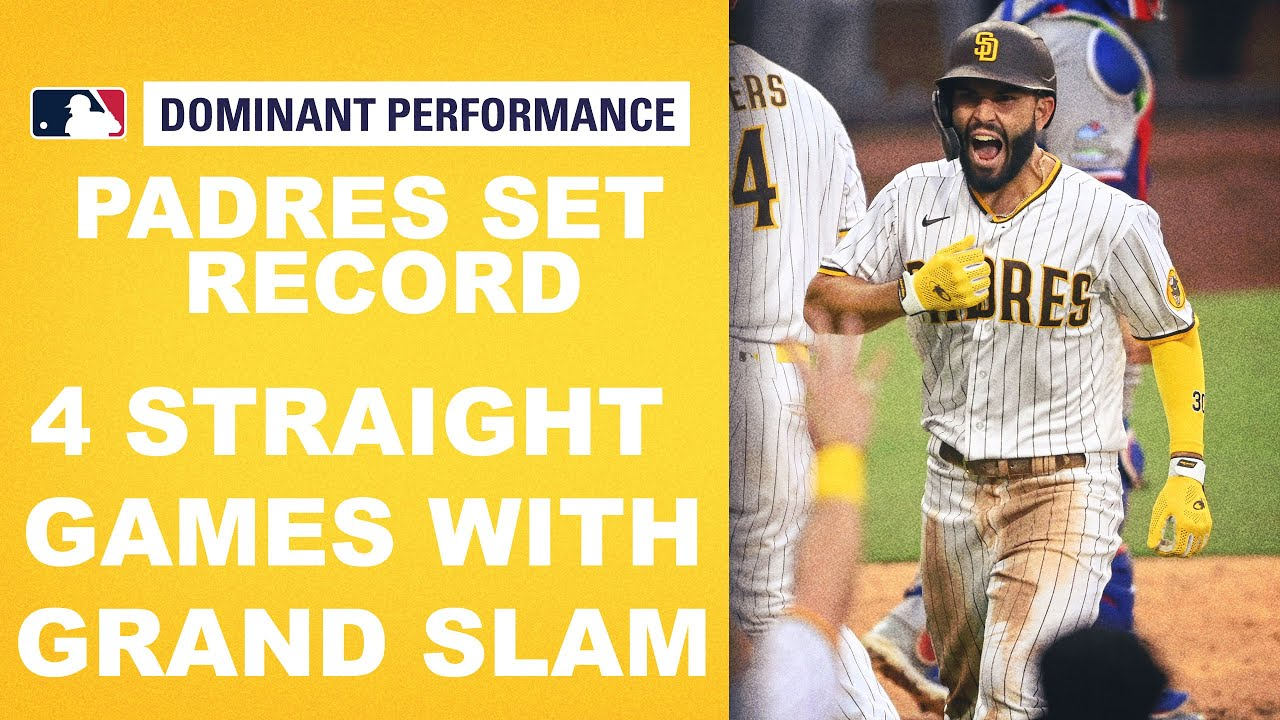 Padres make Major League HISTORY!! First team to hit grand slams in 4 straight games!