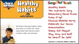 We believe that good healthy habits start early in a child's life. these songs teach learners about nutrition, safety and anatomy. your child can win a...