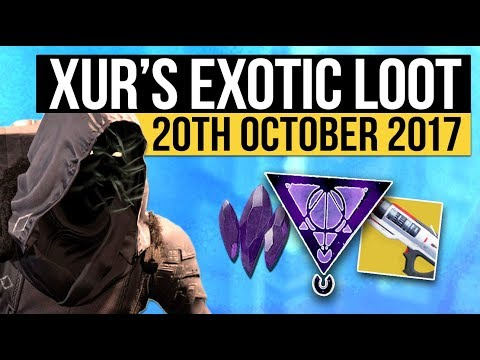 Destiny 2 | NEW XUR LOCATION & EXOTIC LOOT! - Xur's Exotic Weapon & Armor Inventory (20th October)