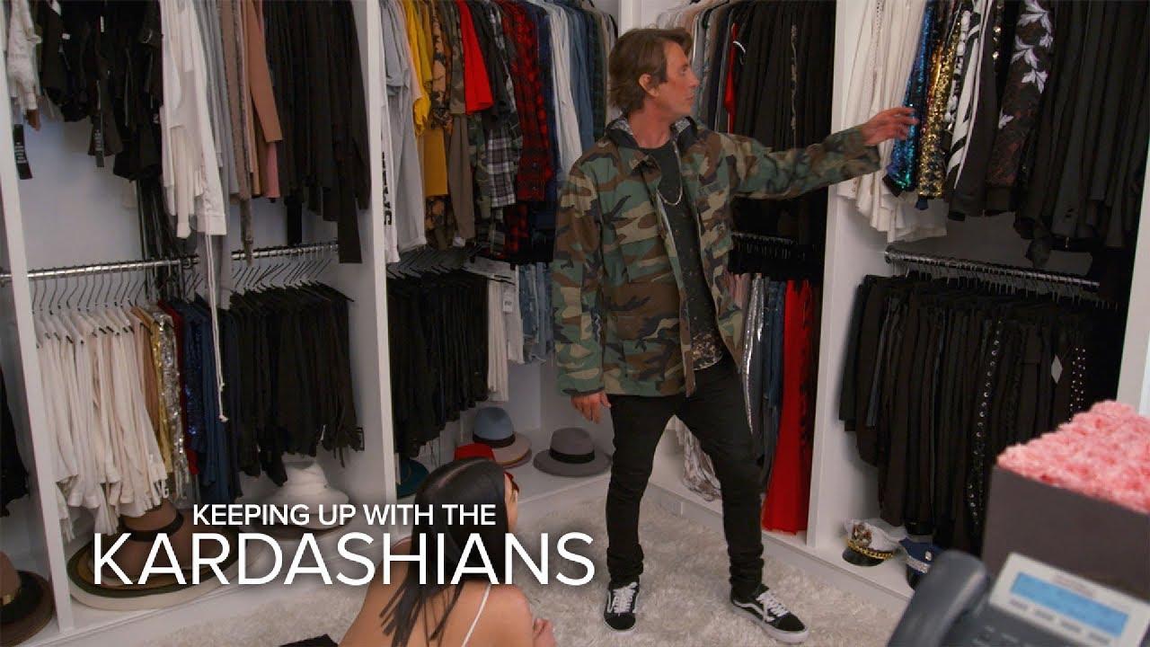 KUWTK | Kim Kardashian West U0026 Jonathan Cheban Raid Khloeu0027s Closet | E!