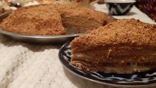 медовый торт (Медовик) Старинный РецептМедовика/Medoviy torti/Ассаллик торт