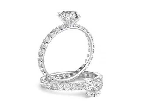 Heart Cut Diamond Infinity Engagement Ring