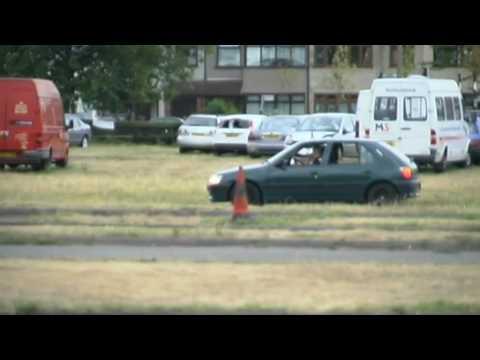 Driving at car drome - YouTube