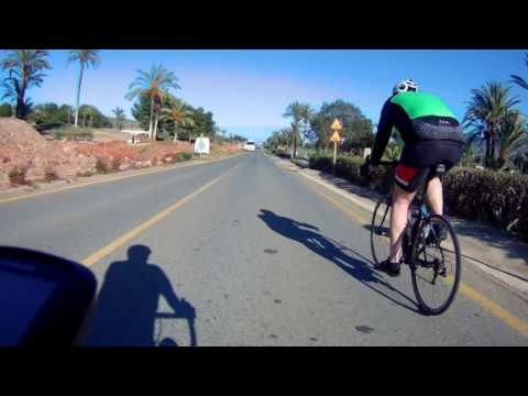 Murcia Cycling - Top of the Green Mile and Down to Los Belones