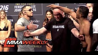 Tony Ferguson and Kevin Lee Separated at UFC 216 Ceremonial Weigh-in