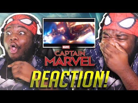 CAPTAIN MARVEL Official Trailer #2 (HD) : EPIC REACTION!!