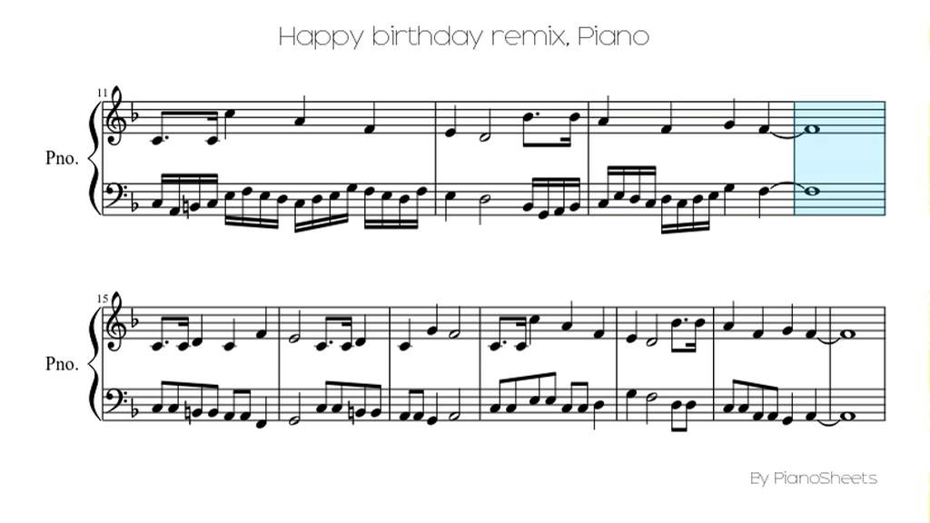 Piano happy birthday piano sheet music : Happy birthday remix [Piano Solo] - YouTube