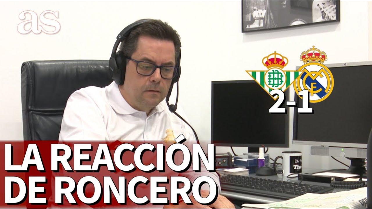 Betis 2 Real Madrid 1   La reacción de Roncero al saber quién iba a lanzar el penalti   Diario AS
