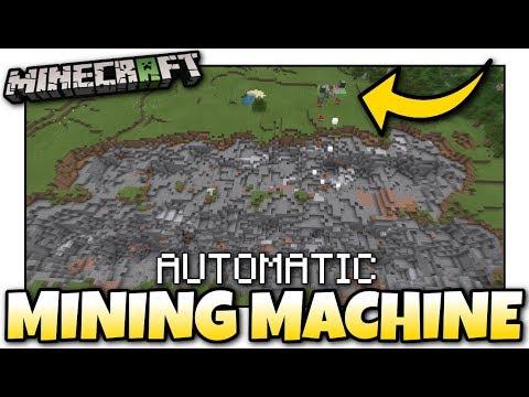 Minecraft - AUTOMATIC MINING MACHINE [ Redstone Tutorial ] MCPE / Xbox / Bedrock
