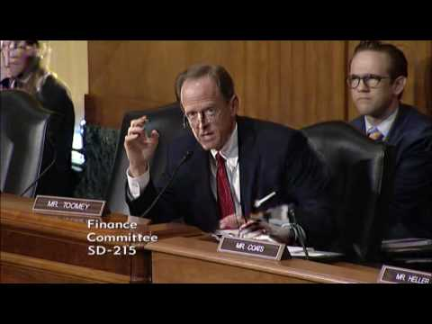 Toomey Questions Dr. Conway at Senate Finance Committee