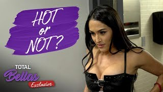 Nikki's new LEATHER TANK TOP is too much for Brie! - Total Bellas Exclusive