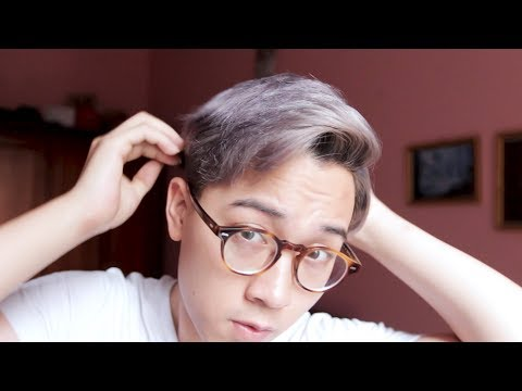 Nhuộm tóc màu BẠCH KIM - XÁM KHÓI cho nam 2018 ! ĐẸP hay TRẺ TRÂU?