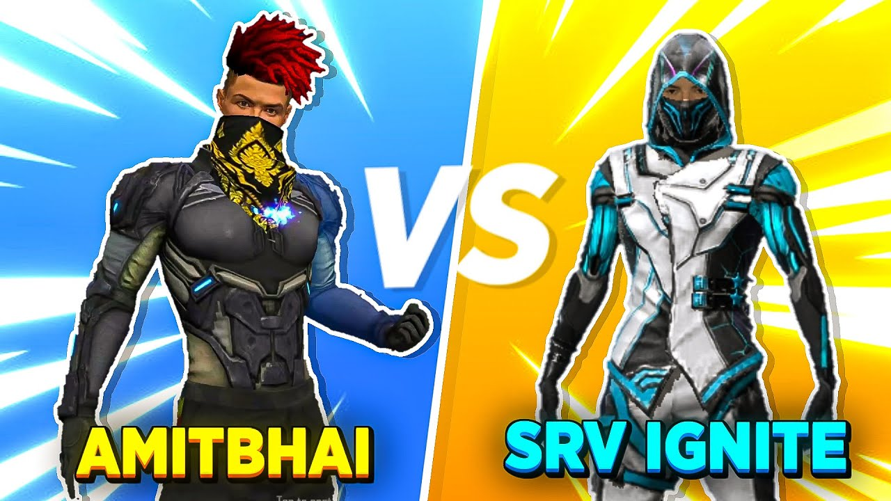 AmitBhai Vs SRV Ignite 1v1 Clash Squad || Desi Army