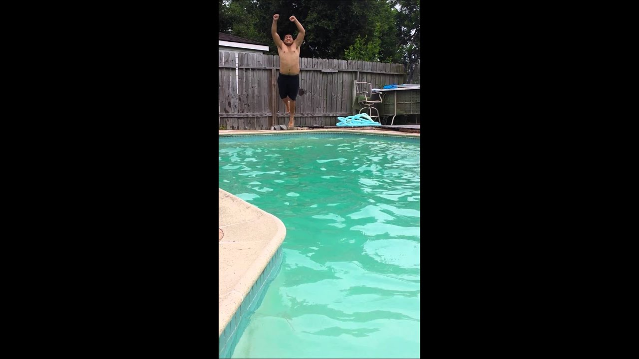 Pool Splash Cannonball swimming pool cannonball - youtube