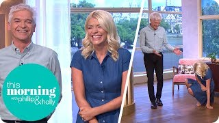 Holly Gets the Giggles!   This Morning