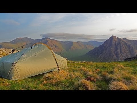 Glencoe wildcamp- summer solstice wild camp on top of a Glencoe mountain