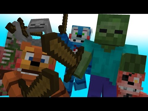 FNAF vs Mobs   Monster School: WAR ARK - Minecraft Animation (Five Nights At Freddy's)