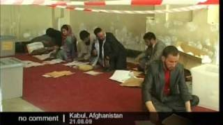 Counting underway for afghan elections
