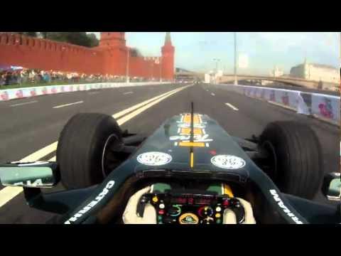 On-board: Luiz Razia / Moscow Racing street - F1 Lotus Renault