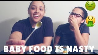 TRYING BABY FOOD!!!🤮🤢 (THIS IS HILARIOUS)😂