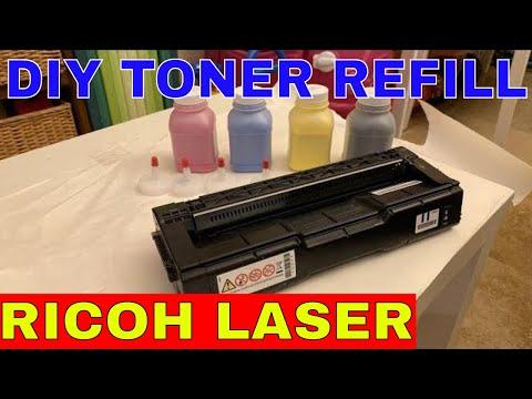 Ricoh Laser Printer Toner Refill SP C250DN   Reset Toner Chips   Arduino Hack