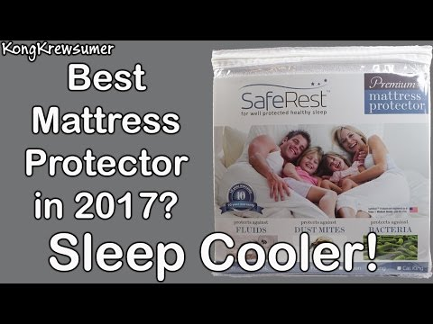 SafeRest Waterproof Mattress Protector Unboxing and Review! Sleep Cooler!